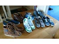 Job lot 8 pairs mens uk9 shoes boots like new Leather. Element dr martens converse adidas red dead
