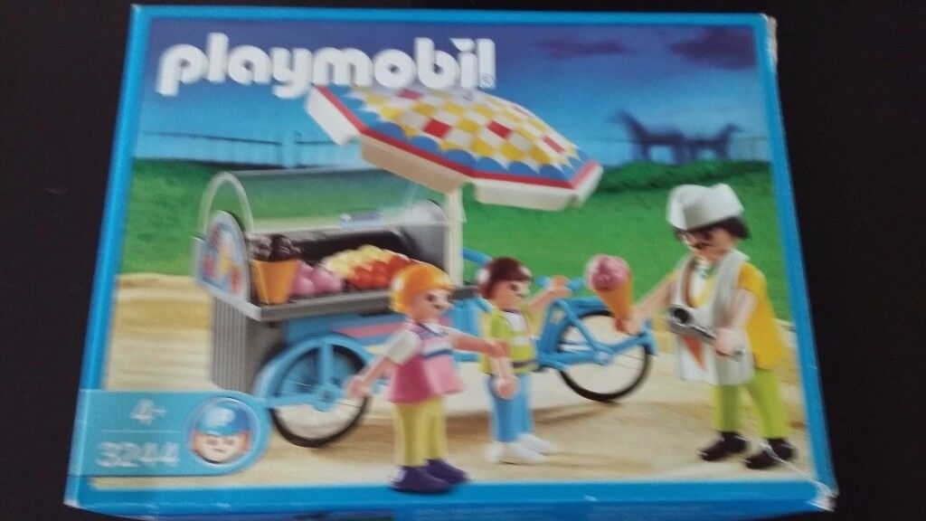 Playmobil 3244 ice cream cart with box and instructions