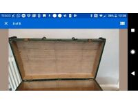 Antique vintage storage box chest trunk
