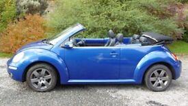2006 VW Beetle Convertible FSH inc Cambelt, 113K miles 12 Months MOT leather superb