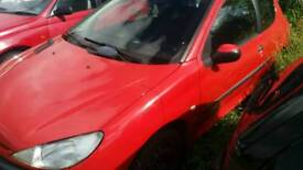 2002 Peugeot 206 1.4 Breaking For Parts Only