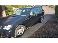 METALLIC BLACK ESTATE CAR FOR SALE, LONG MOT, RECENT SERVICE BY MB, GOOD CONDITION, CLEAN INTERIOR