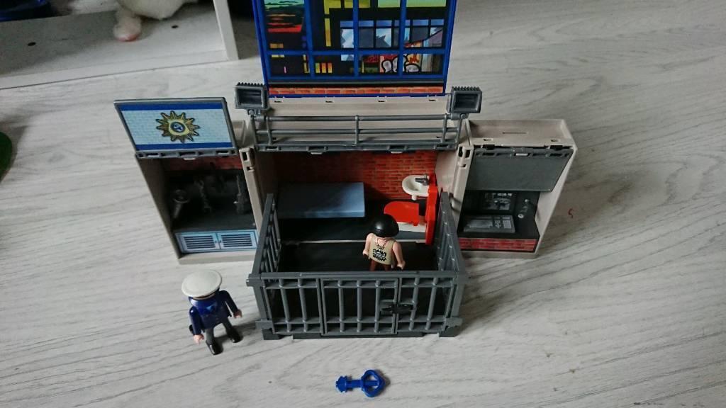 Playmobil prison cell.