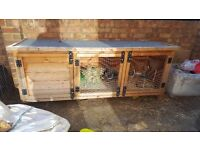 6ft Single hutch rabbits/guinea pigs