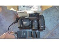Canon 70D & 18-55mm & 75-300mm lenses