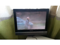 "GRUNDIG 15""4 LCD - HD WIDE SCREEN TV WITH DVD AND USB + FREEVIEW"