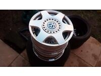 "4x 16"" Vw Golf, bora, beetle etc alloys, 5x100 fitment with 2x tyres..."