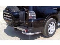 Mitsubishi Pajero / Shogun LWB Stainless Steel Rear Bumper Corner Bar Protectors