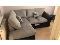 Linear Left Hand Standard Back Compact Corner Chaise Sofa