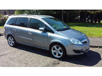 Vauxhall Zafira 7 seater, 6 Speed Gear , with low mileage. MOT UNTIL 6 June 2017