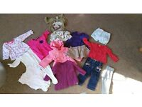 Used bag of girls clothes9-12 months