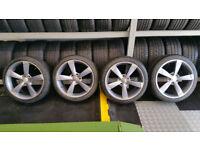 Audi Rotor 18 alloy wheels + 4 x tyres 225 40 18