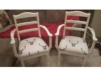 2x stag carvers chairs
