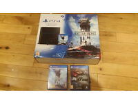 Playstation 4 with 2 games, 1TB model, boxed in perfect condition, hardly used