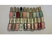 Bundle of L'Oréal paris color riche nail varnish