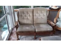 Cottage style sofa and footstool