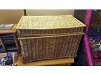 Large Wicker Basket / Hamper in Good Condition