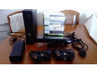 XBOX 360 - 2 Controllers - 15 Games - KINECT