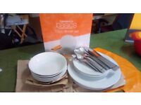 Kicthen Cutlery & Crockery etc. Plates, Knifes, Chopping Boards