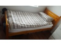Single Bed - Frame and 2 Mattresses