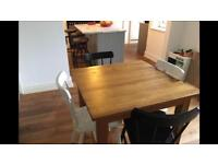 Solid oak dining table, chestnut coloured, gorgeous, great condition