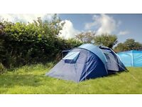 6 man two rooms camping tent