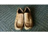 Mens light brown shoes size 9