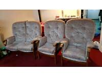Sofa 2 seater and 2 armchairs