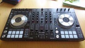 Pioneer DDJ SX 4 Channel Controller for Serato DJ Decks With 2 x Pioneer SDJ50X White Monitors