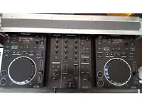 Pioneer 2x Cdj 350 & 1x Djm 350 + flight case