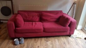 FREE TO GOOD HOME: Comfy, 3-seater, pre-loved Sofa