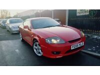 Hyundai Coupe 1.6 S 3dr 2005 , mot 10/12/2018, two remote keys , service history