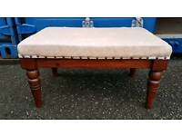 Nice vintage large footstool sewing box in great condition
