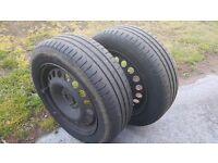 Michelin tyres on rims