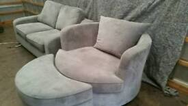 2 seater sofa bed and cuddle chair