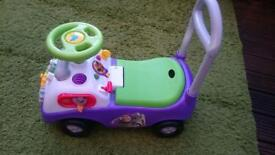 Buzz lightyear ride on walker push car