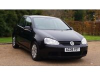 VW GOLF 1.9 S TDI 08 PLATE 2008 3P/OWNER 108000 MILES FULL SERVICE HISTORY AIRCON MANUAL IN BLACK