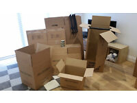 Sturdy double walled cardboard removal boxes
