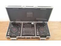 Pioneer DJM800 mixer 2 x CDJ1000mk3 + flight case