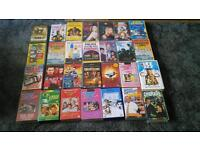 VHS vidieo cassettes 60 all boxed