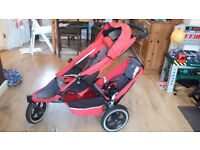Phil and Ted's E3 double buggy pushchair