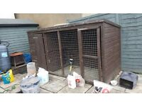 Large dog kennel/animal hut 12ft by 4ft in good condition
