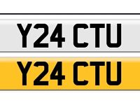 Y24 CTU private cherished personal personalised registration plate number