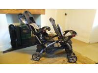 baby trend sit and ride double buggy