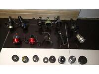 Fishing reels and accessories joblot for sale