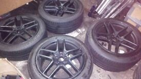 MERCEDES BENZ AMG GLE ML SET OF 21'' INCH ALLOY WHEELS WITH PIRELLI P-ZERO TYRES EXCELLENT CONDITION