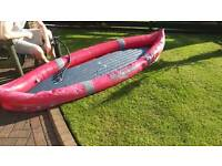 Inflatable kayak needs attention