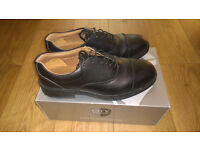 Black leather City Knights Safety Shoes Size 10