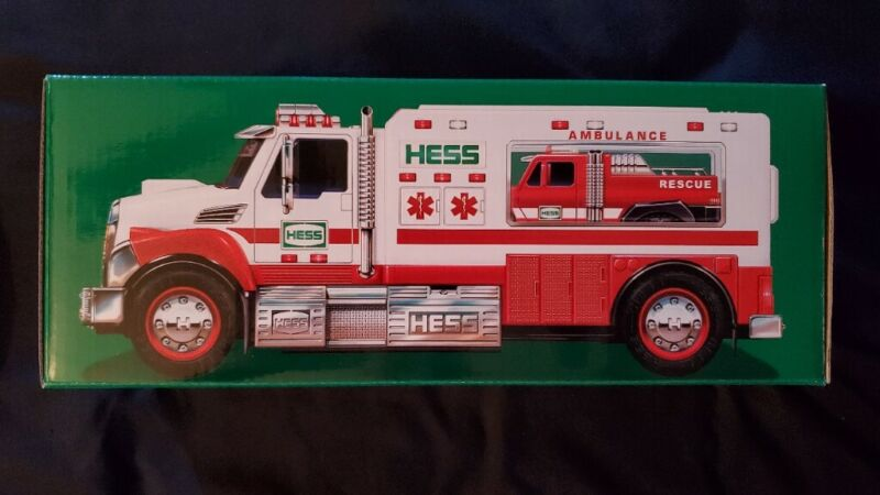 2020 HESS Ambulance and Rescue Toy Truck~Great Collectable~NIB & Free Ship