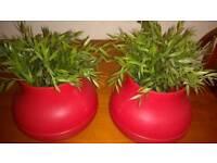 Artificial plant pots